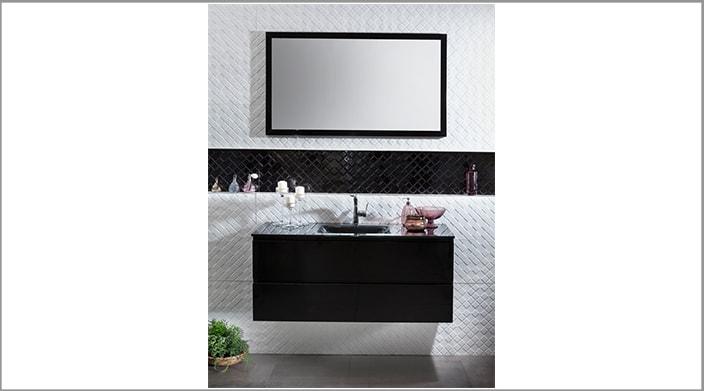 ארון אמבטיה שחור במחיר מבצע
