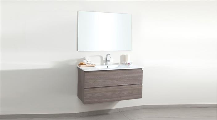 ארון אמבטיה מעץ במצבע