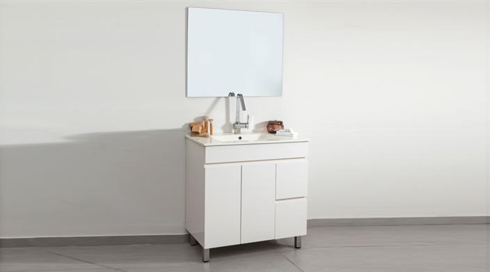 ארון אמבטיה לבן עם מגירות מבצע