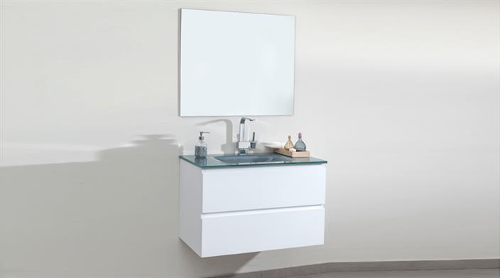 ארון אמבטיה עם כיור זכוכית במבצע