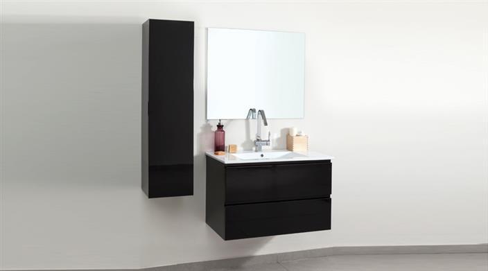 ארון אמבטיה שחור + ארון תלוי במבצע