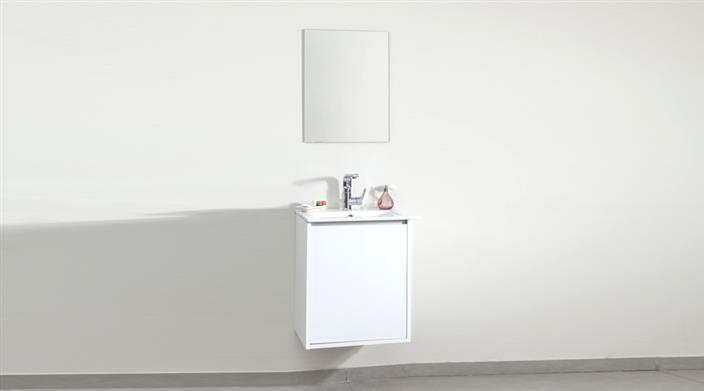 ארון אמבטיה לבן קומפקטי במבצע